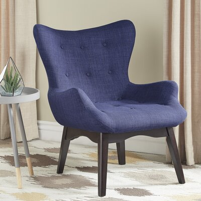 Shuman Wingback Chair Upholstery: Twilight Blue