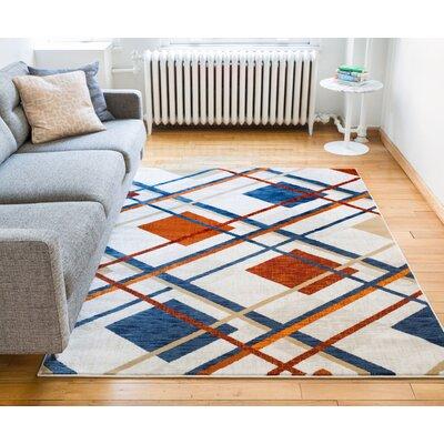 Colchester Tartan Beige Area Rug Rug Size: 53 x 73