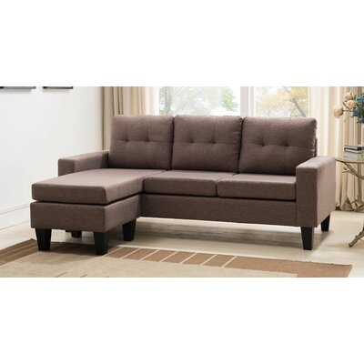 Briley Reversible Chaise Sectional Upholstery: Sand
