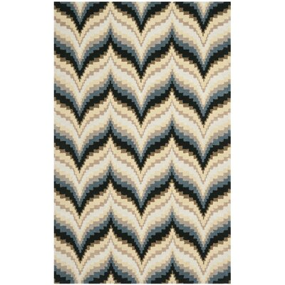 Wildfire Hand-Loomed Beige/Gray Area Rug Rug Size: Rectangle 9 x 12