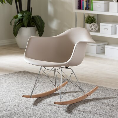 Iversen Shell Arm Chair Upholstery: Beige