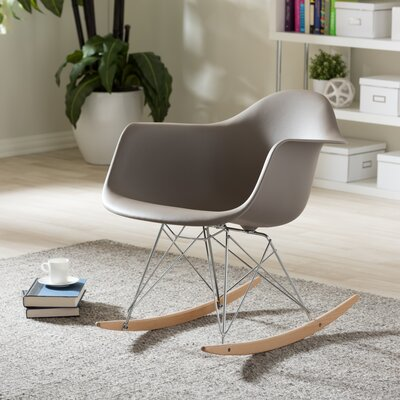Iversen Shell Arm Chair Upholstery: Grey