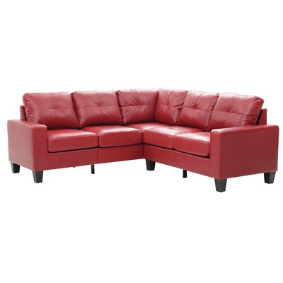 Tiff Modular Sectional Upholstery: Red