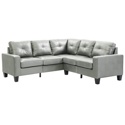 Tiff Sectional Upholstery: Antique Silver