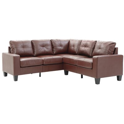 Tiff Modular Sectional Upholstery: Brown