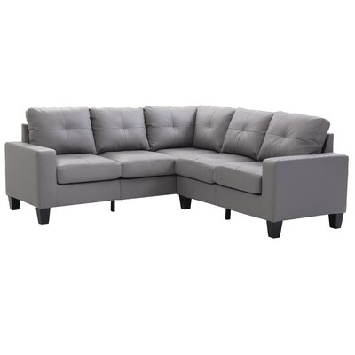 Melantha Sectional Upholstery: Gray