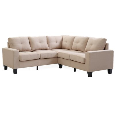 Tiff Reversible Sectional Upholstery: Tan