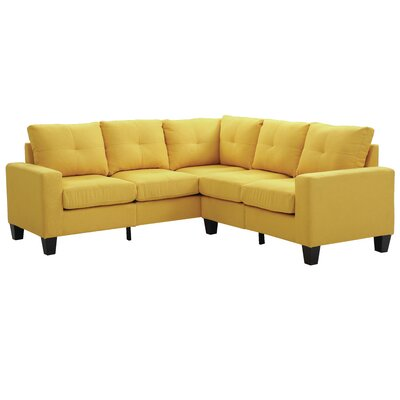 Tiff Reversible Sectional Upholstery: Yellow