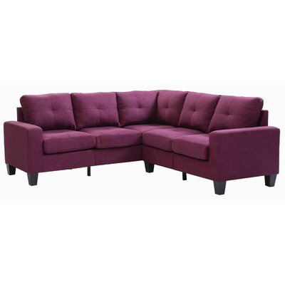 Melantha Sectional Upholstery: Berry