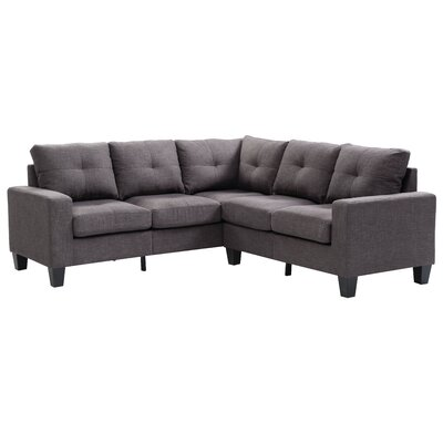 Tiff Reversible Sectional Upholstery: Ash Gray