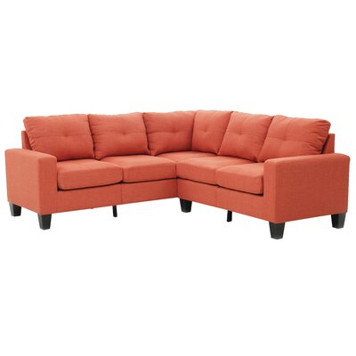 Tiff Reversible Sectional Upholstery: Orange