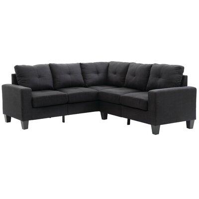 Tiff Modular Sectional Upholstery: Black
