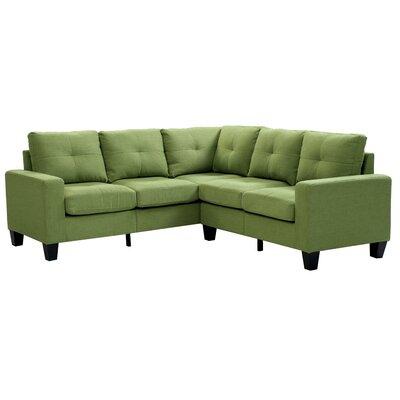 Melantha Sectional Upholstery: Green