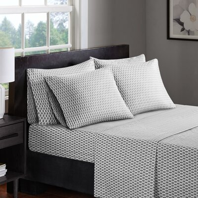 Allegan 200 Thread Count 100% Cotton Sheet Set Size: King, Color: Charcoal