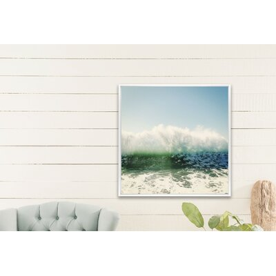 'Foam' Framed Photographic Print Size: 20