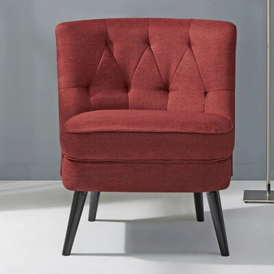 Witherington Slipper Chair Upholstery: Red