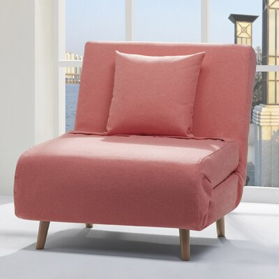 Wolfe Convertible Chair Upholstery: Coral