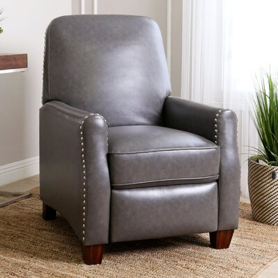 Andrus Pushback Leather Recliner
