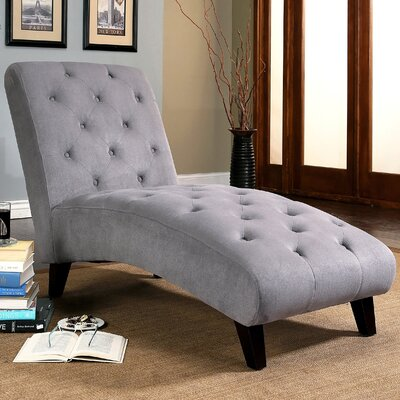 Bergevin Chaise Lounge Upholstery: Gray