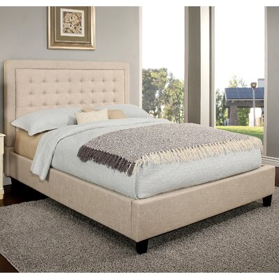 Gwyneth Tufted Upholstered Platform Bed Size: King