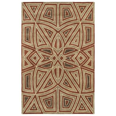 Devereaux Hand Tufted Brown/Beige Area Rug Rug Size: 36 x 56