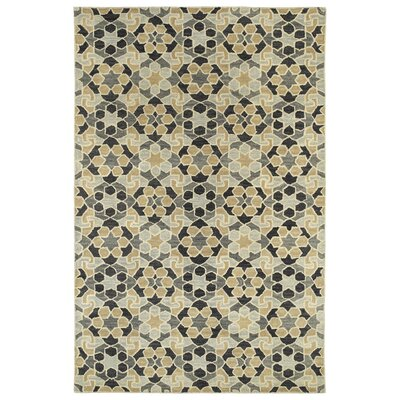 Devereaux Hand Tufted Black/Beige Area Rug Rug Size: 2 x 3