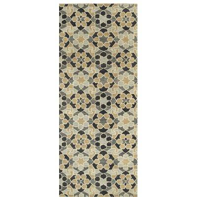 Devereaux Hand Tufted Black/Beige Area Rug Rug Size: Runner 26 x 8