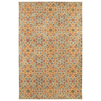 Devereaux Hand Tufted Orange Area Rug Rug Size: 36 x 56
