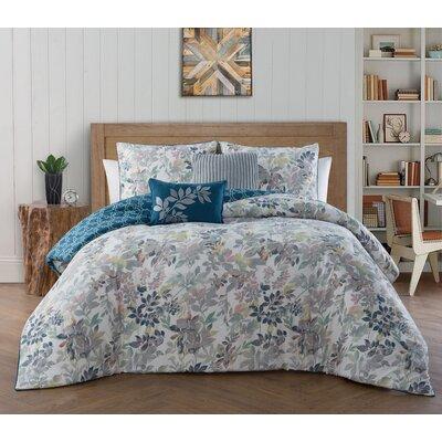 Agustin 5 Piece Reversible Comforter Set Size: Queen, Color: Blue