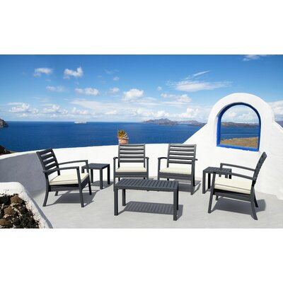 Nikoleta 7 Piece Arm Chair Seating Group Finish: Silver Gray