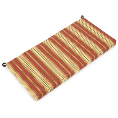 Bench Cushion Color: Kingsley Stripe Ruby