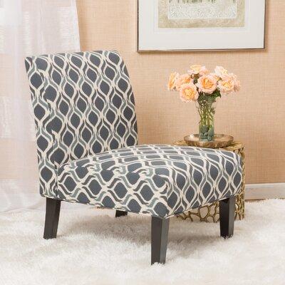 Bernardi Slipper Chair Upholstery: Blue/Navy