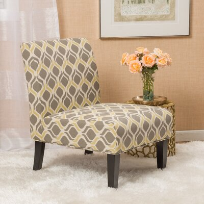 Bernardi Slipper Chair Upholstery: Yellow/Gray
