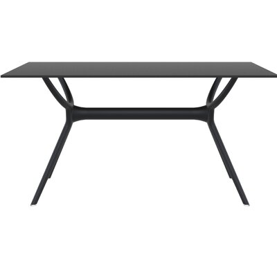 Curnutt Rectangle Dining Table Table Size: 55 L x 31.5 W, Finish: Black