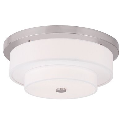 Alina 4-Light Flush Mount Size: 7 H, Finish: Brushed Nickel