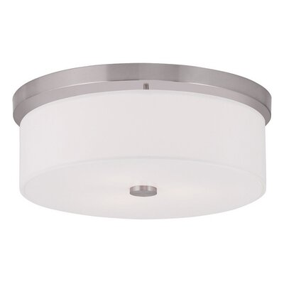 Alina 3-Light Flush Mount Finish: Brushed Nickel