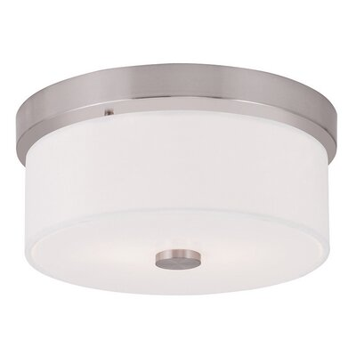 Alina 2-Light Flush Mount Size: 5.5 H, Finish: Brushed Nickel