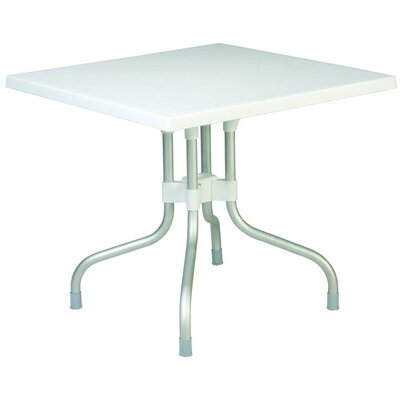 Buerger Square Folding Bistro Table Finish: White