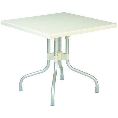 Buerger Square Folding Bistro Table Finish: Beige