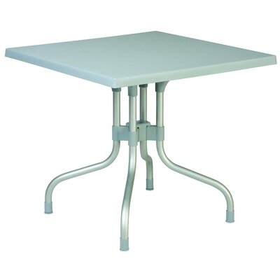 Buerger Square Folding Bistro Table Finish: Silver Gray