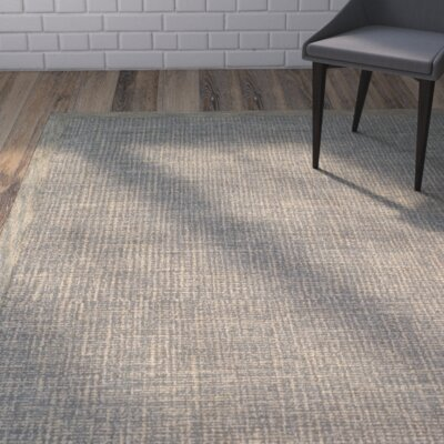 Blom Hand-Tufted Gold/Gray Area Rug Rug Size: 4 x 6
