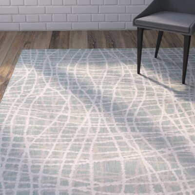 Moss/Ivory Indoor/Outdoor Area Rug Rug Size: 52 x 76