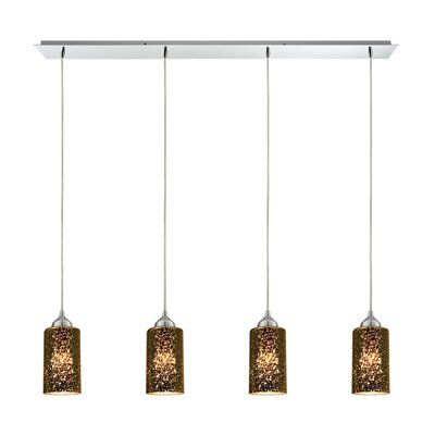 Burks 4-Light Metal Kitchen Island Pendant Shade Color: Sage