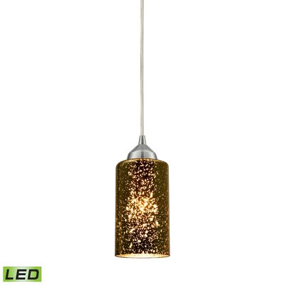 Burks 1-Light Glass Shade Mini Pendant Shade Color: Sage
