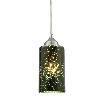 Burks 1-Light Cylindrical Shade Mini Pendant Shade Color: Sage