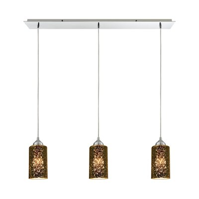 Burks 3-Light Metal Kitchen Island Pendant Shade Color: Sage