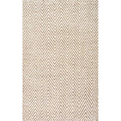 Norcross Hand-Woven Tan Area Rug Rug Size: 6 x 9