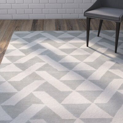 Hooper Hand-Tufted Gray Area Rug Rug size: 4 x 6