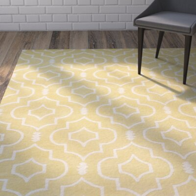 Greaves Light Gold / Ivory Rug Rug Size: Rectangle 3 x 5