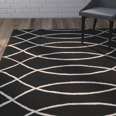 Summers Black Indoor/Outdoor Area Rug Rug Size: Rectangle 8 x 10